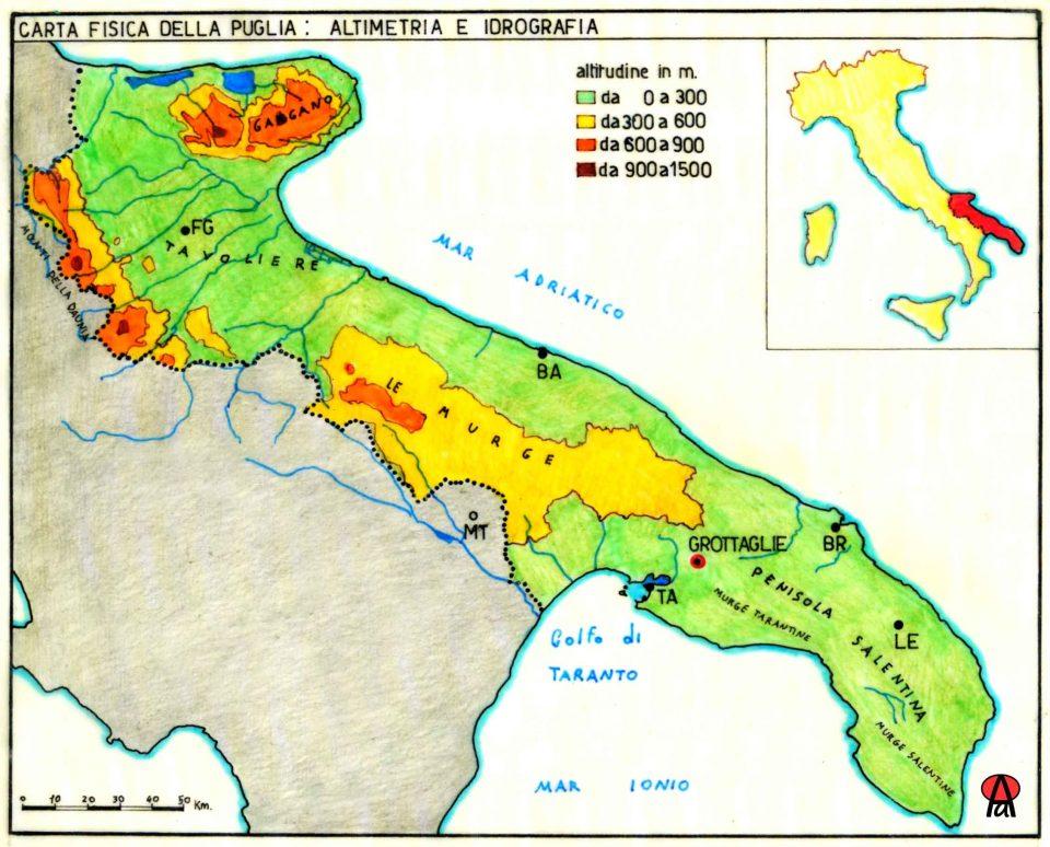 Cartina Idrografica Puglia.Contesto Gravine Di Grottaglie